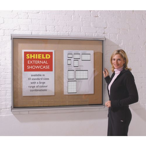 Showcase External Shield Cork Board Portrait H:1050Xw:1350mm