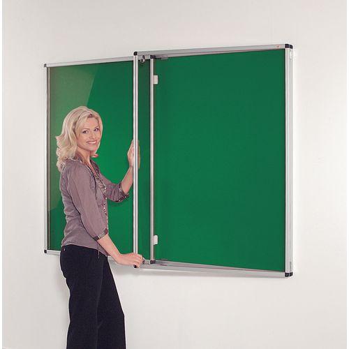 Board Notice Fire Resist Alum Frame Lock W1800X H1200 Green