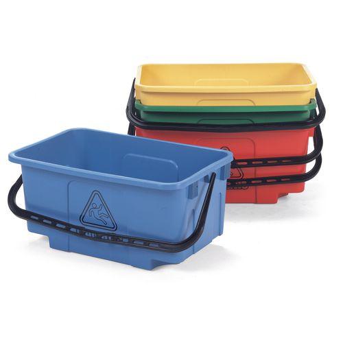 Mopping Bucket 30L Hi-Bak C/W Castors Red