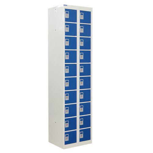Locker Personal Effects 20 Compartments Blue Door 1800X450