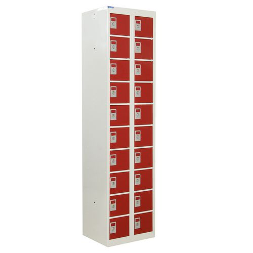 Locker Personal Effects 20 Compartments Red Door 1800X450