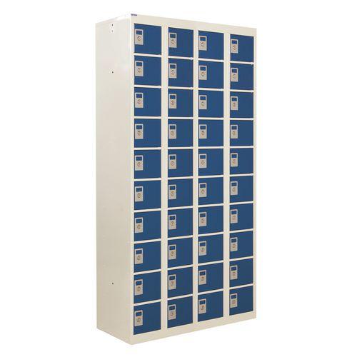 Locker Personal Effects 40 Compartments Blue Door 1800X900