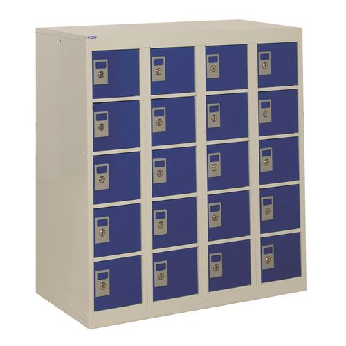 Locker Personal Effects 20 Compartments Blue Door 940X900