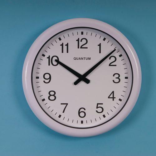Clock Waterproof Dia.400mm White Plastic Quartz Movement