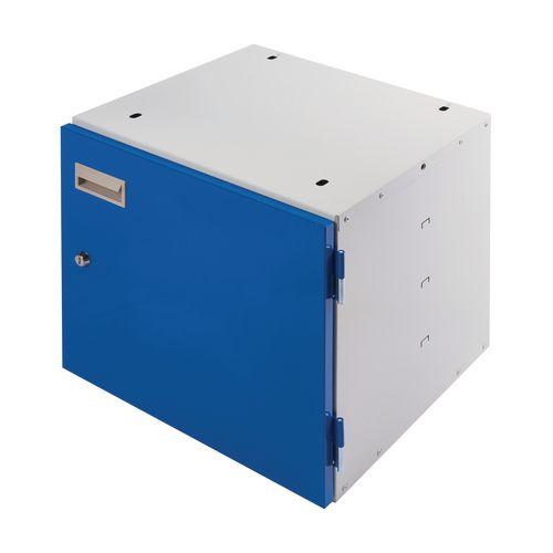 Cupboard Unit Lockable Blue Door 420X420X430mm