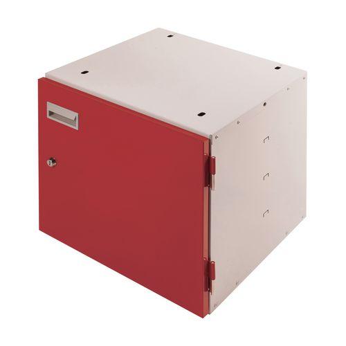 Cupboard Unit Lockable Red Door 420X420X430mm