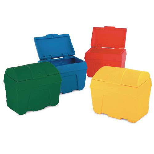 Bin Storage Yellow-Static/ Lock. Capacity 400 Litres