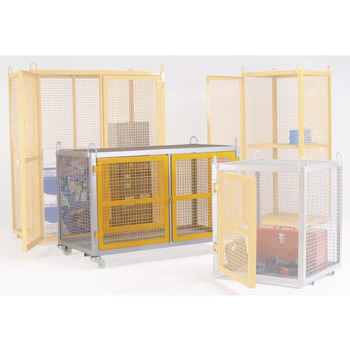 Cage Security Mobile Stove Enamelled Yellow W1400mm H945mm