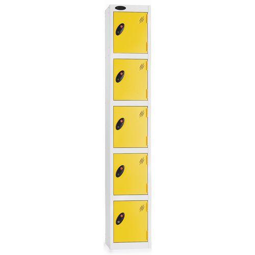 5 Door Locker D:305mm Silver Body &Yellow Door