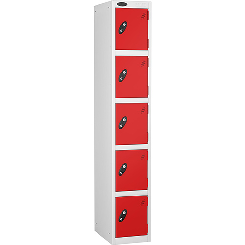 5 Door Locker D:305mm White Body &Red Door