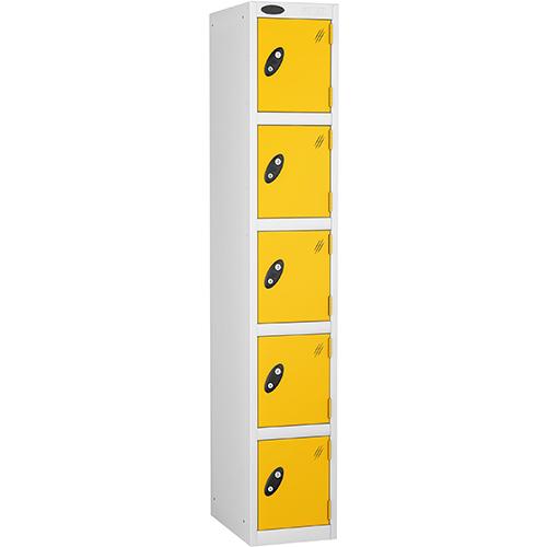 5 Door Locker D:305mm White Body &Yellow Door