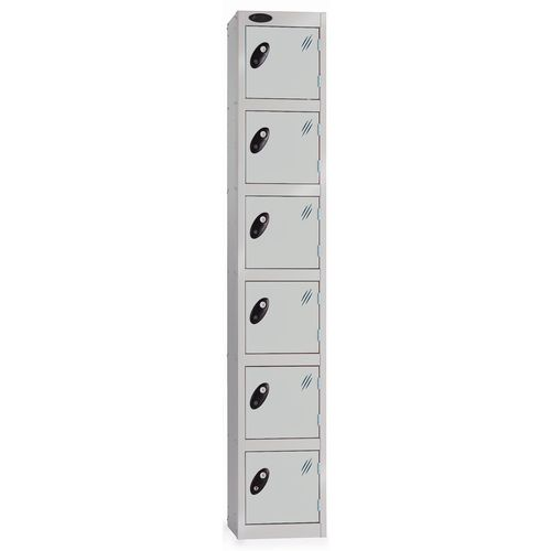 6 Door Locker D:305mm Silver Body &Silver Door