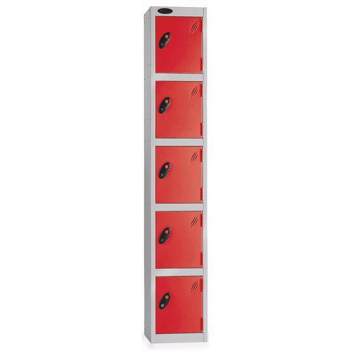 5 Door Locker D:457mm Silver Body &Red Door