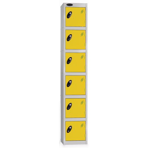 6 Door Locker D:457mm Silver Body &Yellow Door