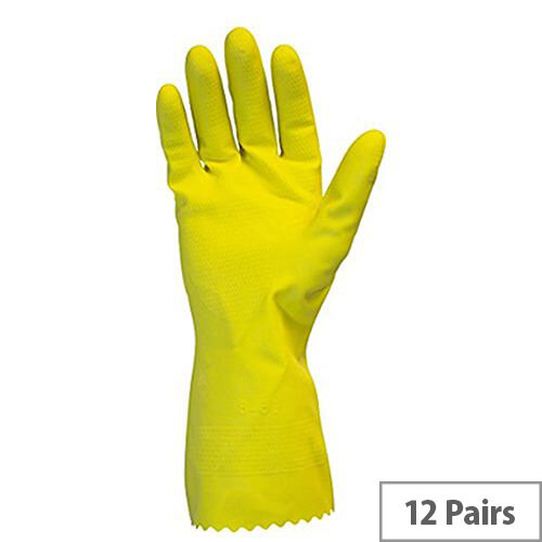 Profil Plus Rubber Gloves Latex Gloves Size 9.5 Large Pack of 12