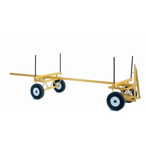 Trailer Timber Pole 400 X 100 Pneumatic, Roller Bearing