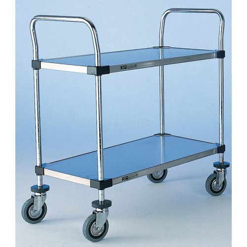T2 1842Fs  Super Erecta Trolley 2 Tier Stainless Steel