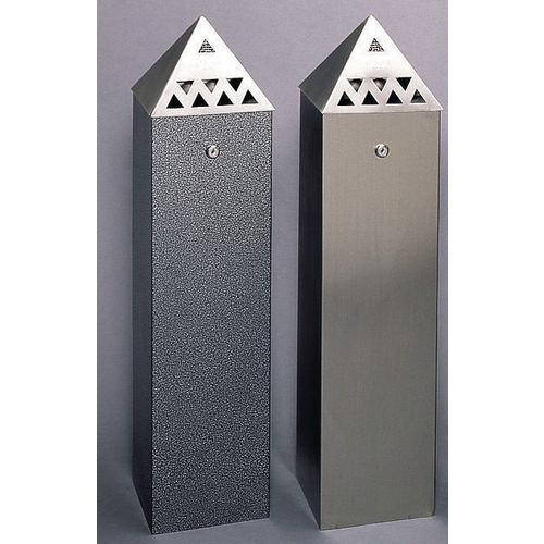 Bin Tower Pyramid Top Stainless St-800X200X200mm