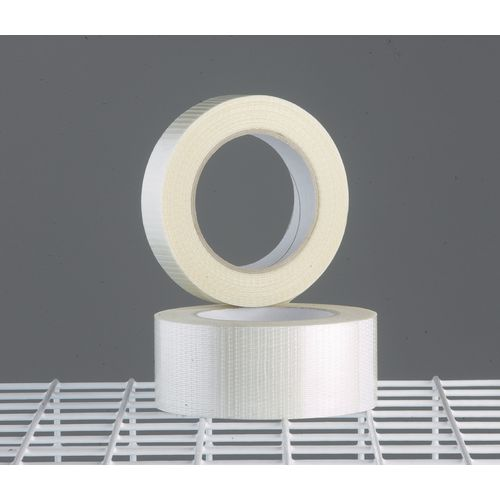 Tape  Reinforced Clear W:50mmxWeave Roll Carton Of 6