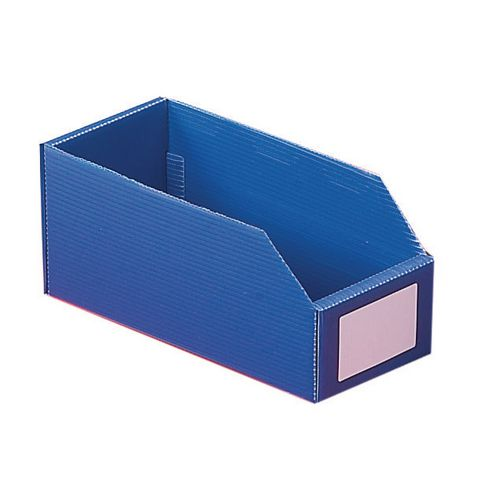 Twin Walled Small Part Storage Polypropylene Bins HxWxL 100x200x300mm Blue Pack of 50