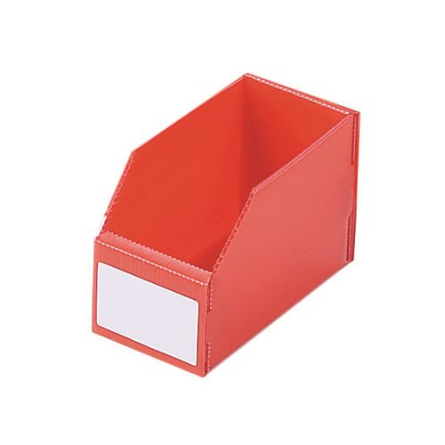 Twin Walled Small Part Storage Polypropylene Bins HxWxL 100x100x450mm Red Pack of 50