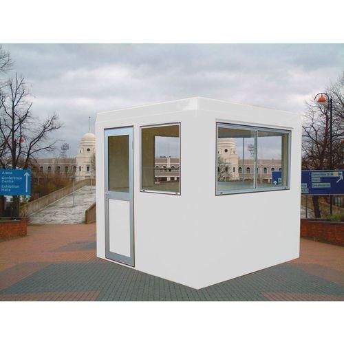 Gatehouse-Security Grey With 2 Sliding Windows