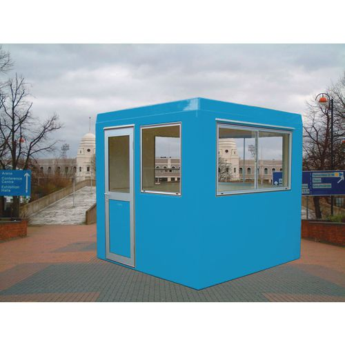 Gatehouse-Security Blue With 3 Sliding Windows