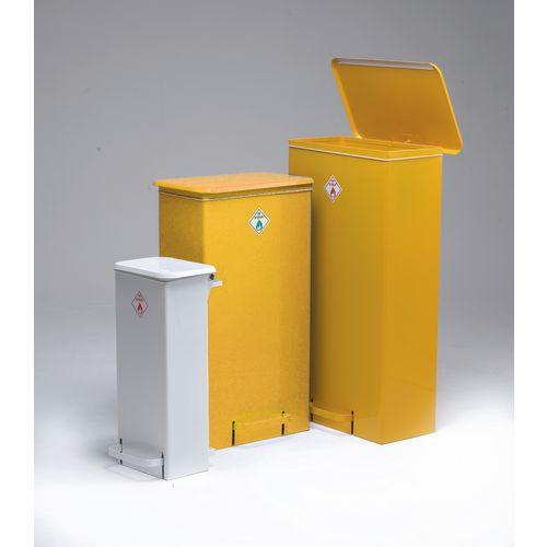 Fire Retardant Bin Mobile White Body&ellow Lid (Fr5005)