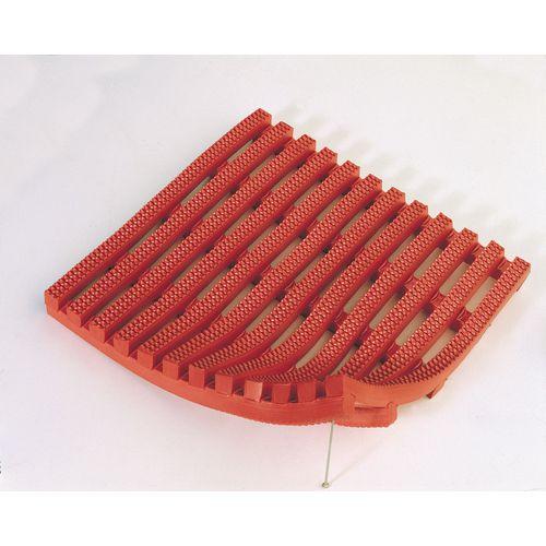 Matting H.D. Pvc (Vynagrip) Square Pvc (60Cms) Red