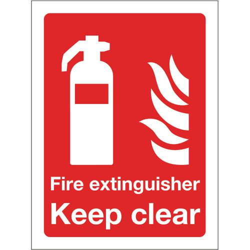 Sign Fire Extinguisher Keep Clear 300x400 Vinyl