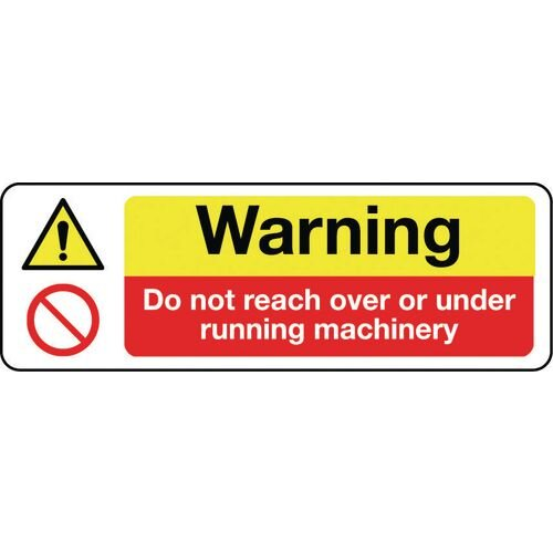 Sign Warning Do Not Reach 600x200 Vinyl