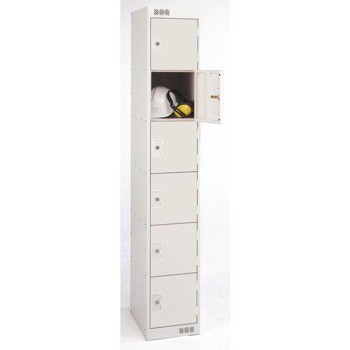 Coloured Door Locker 6 Door Grey Door D300mm