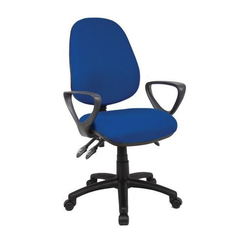 Vantage With Fixed Arms High Back Operators Chair-Fixed Arms Blue