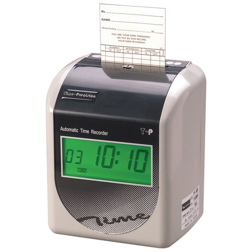T-P 200 D Automatic Time Recorder with 250 Cards &25 Slot Rack