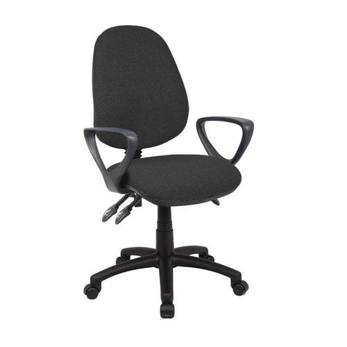 Vantage With Fixed Arms High Back Operators Chair-Fixed Arms Charcoal