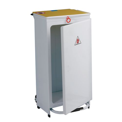 Sackholder-Front Opening Capacity 70L Yellow Lid