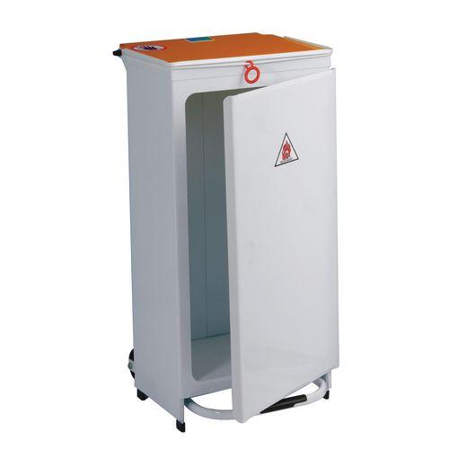 Sackholder-Front Opening Capacity 70L Orange Lid