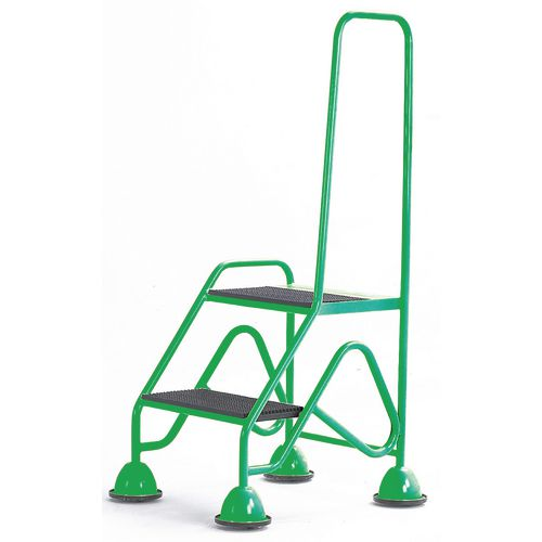 Easy Glide Mobile 2 Step Looped Handrail Green 640x1210x560