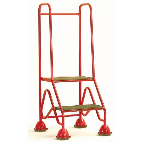 Easy Glide Mobile 2 Step Full Handrail Red 640x1210x560
