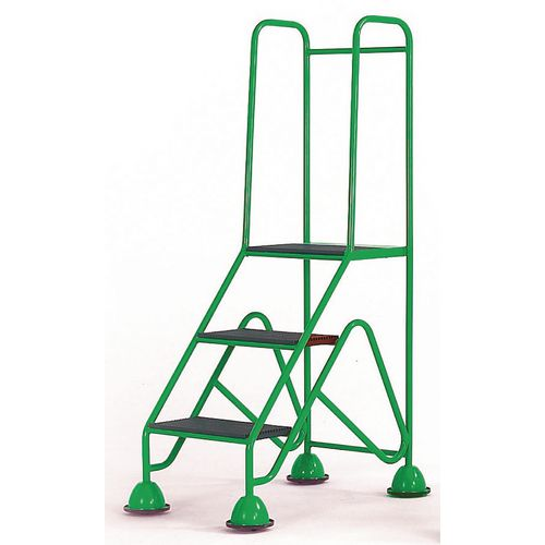 Easy Glide Mobile 3 Step Full Handrail Green 840x1450x560