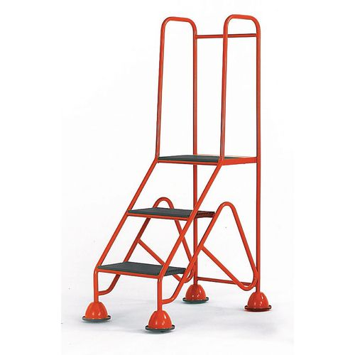Easy Glide Mobile 3 Step Full Handrail Red 840x1450x560