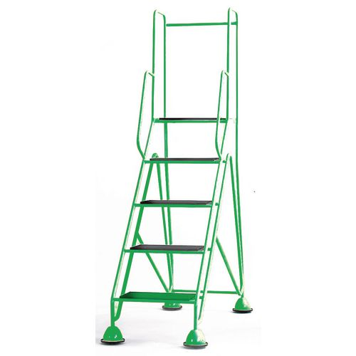Easy Glide Mobile 5 Step Full Handrail Green 1360x1950x610