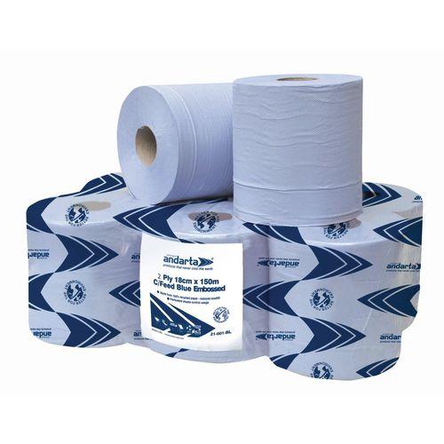 Advanced Wiper 420 Blue Centrefeed Roll