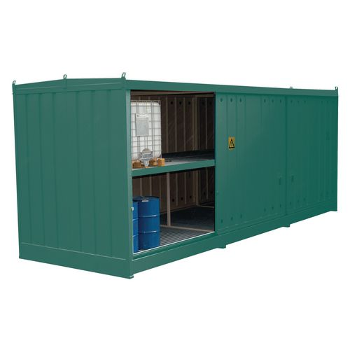 Storage Unit For 24 Ibc Or 96 Drums  Green