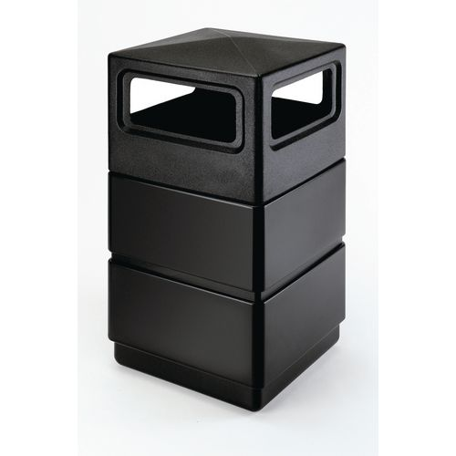 Three-Tier Waste Container With Dome Lid