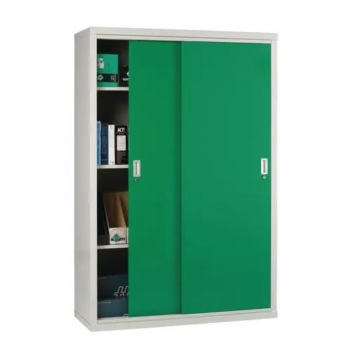 """Light Grey Cupboard Sliding Door 72""""X48""""X18"""" Green Doors"""