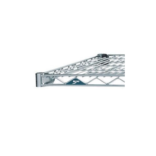 Metro Wall Mounted Chrome Wire Shelf 1829mm Wide 356mm Deep
