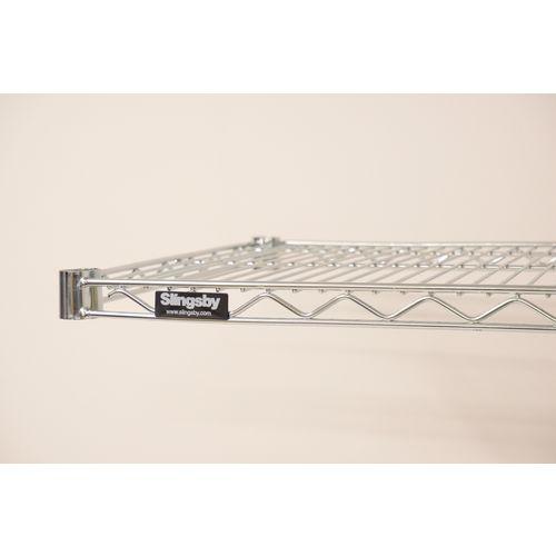 Metro Wall Mounted Chrome Wire Shelf 914mm Wide 457mm Deep