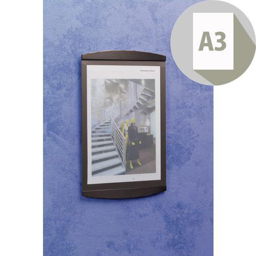 Poster Frame 2Xa4 Wall Mounted Black