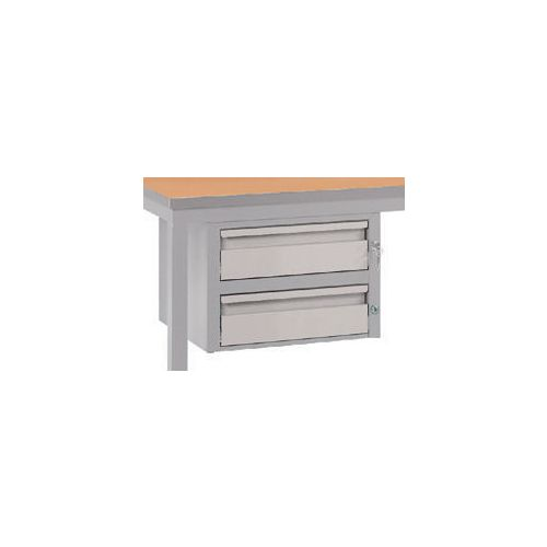 Double Drawer Light Grey